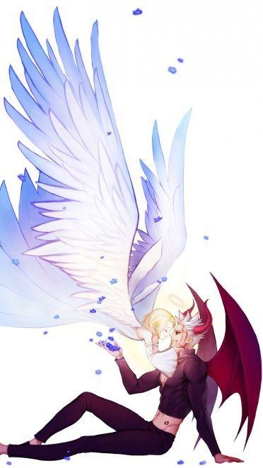 Resultado de imagem para anime anjos casal