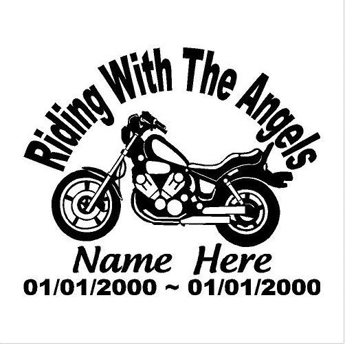 In loving memory of memorial decal motorcycle truck car decal remembrance decal