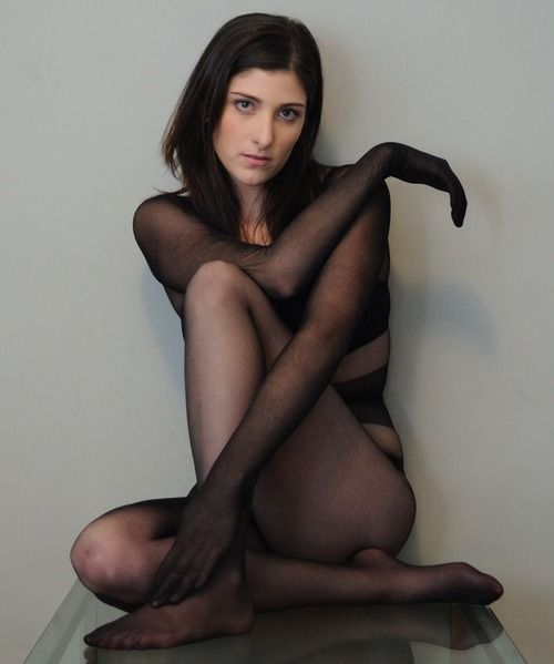 Scene though pantyhose bodystocking and catsuit porn
