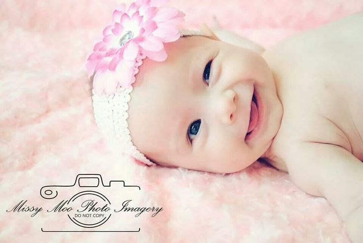 Cute, baby photography,  pink, rosette, smile, flower
