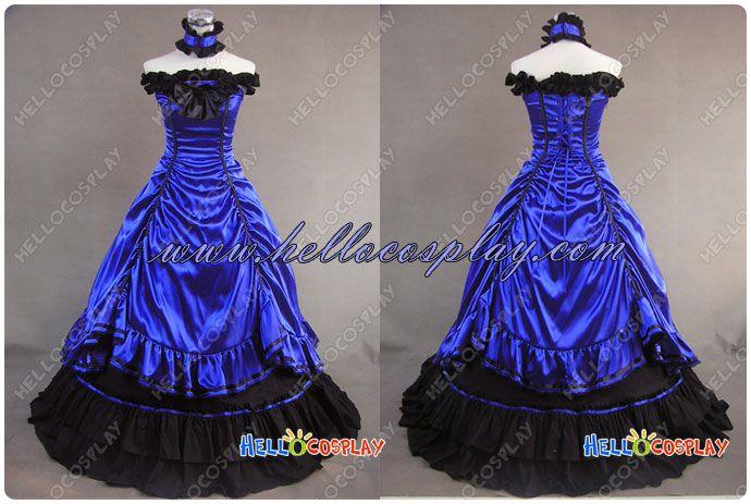 Southern Belle Lolita Robe Bleu Robe de Mariée