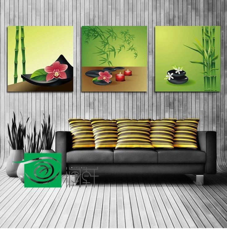 3 Panel Wall Art Feng Shui The Picture, Feng Shui Painting For Living Room