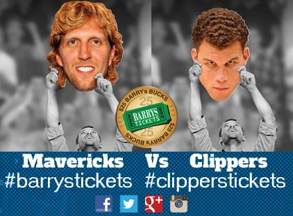 Win Mavs Vs Clips Tickets Staples Center