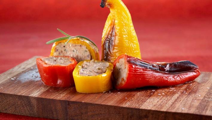 Kjøttfylte søte paprika