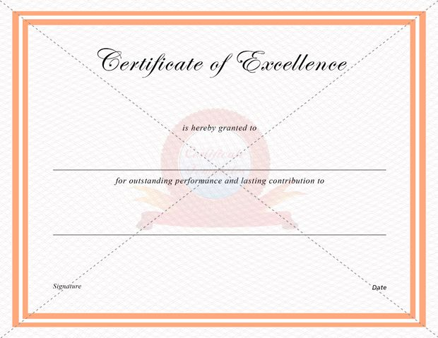 46 best CERTIFICATE OF EXCELLENCE TEMPLATES images on Pinterest - excellence award certificate template