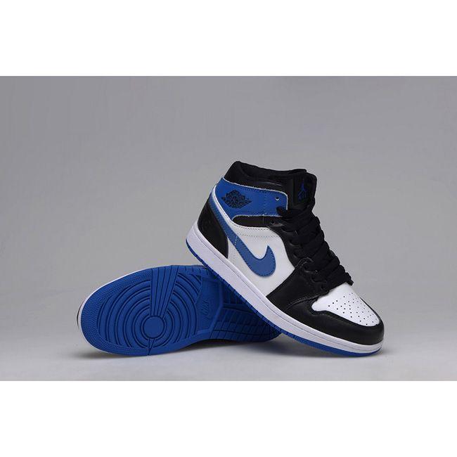 Authentic Air Jordan 1 Retro KO High OG Black white-Sport Blue (Men Woman