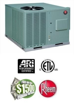 4 Ton 14 Seer Rheem 100,000 Btu 80% Afue Gas Package Air