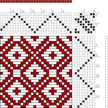 Hand Weaving Draft: Page 16, Figure 7, Christian Morath Pattern Book, 8S, 8T - Handweaving.net Hand Weaving and Draft Archive
