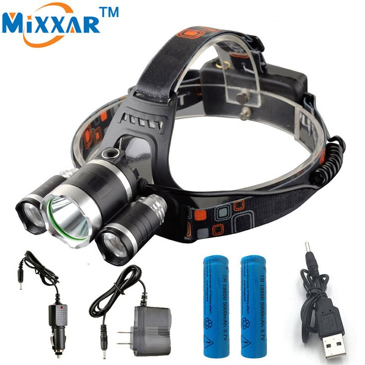 ZK35 9000LM T6 LED Headlight Headlamp LED Lighting Head Lamp Hunting Camping Fishing Light 3x XML T6  Rechargeable 18650 Battery