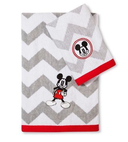 Mickey Mouse Chevron Towel Set Disney Bathroom Pinterest Mickey Mouse