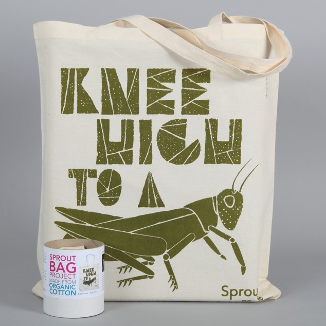 Organic Cotton Sprout Bag 38. Knee High To A.... - Gifts NZ Art Prints, Design Prints, Posters & NZ Design Gifts | endemicworld