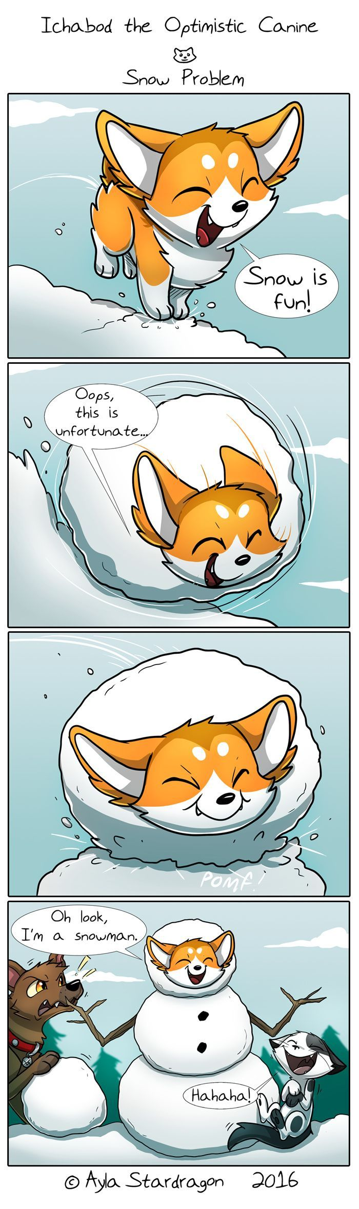 Ichabod the Optimistic Canine :: Snow Problem   Tapastic Comics - image 1
