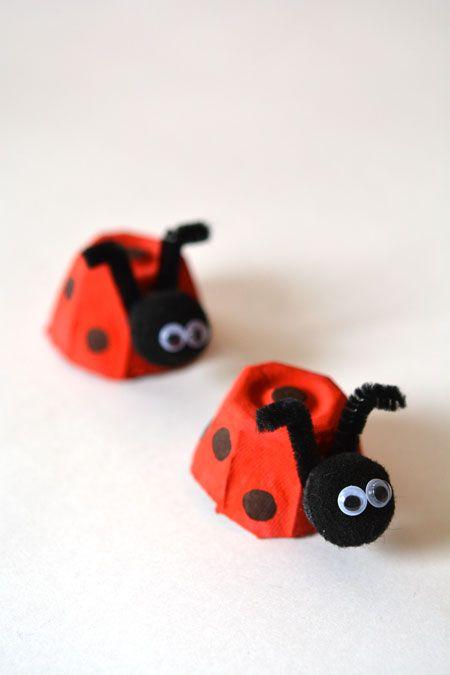 Lekker samen met je kids knutselen? Maak nu deze lieveheersbeestjes, zo schattig!