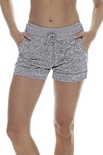 90 Degree By Reflex Activewear Lounge Shorts - Heather Grey Medium