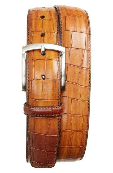 Magnanni Alligator Embossed Leather Belt