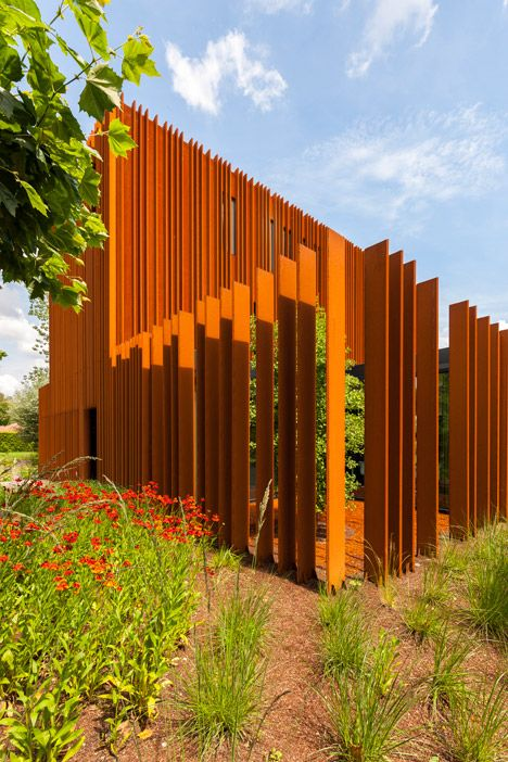 The Corten House By DMOA Architecten Is Surrounded By Weathered Steel Fins | Decor10 Blog