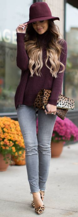 Mia Mia Mine Burgundy, Gray And Leo Fall Street Style Inspo