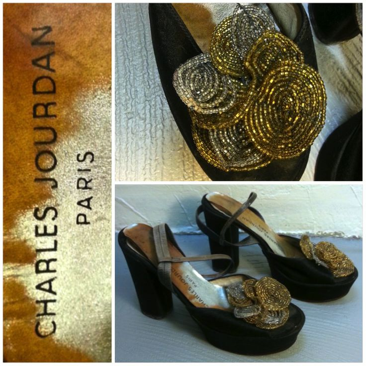 Chaussures CHARLES JOURDAN Paris, Taille 37, 39.- Collection privée © Solo-Mâtine