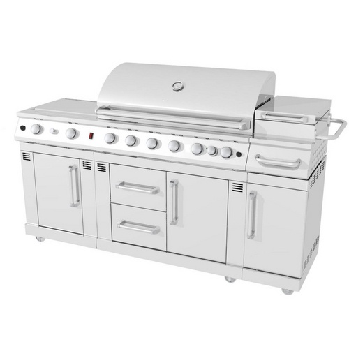 Master Forge Outdoor Kitchen Lowes: Master Forge 8-Burner Stainless Steel LP Gas Grill- Want