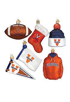 Old World Christmas® 6-Piece University of Virginia Ornament Set