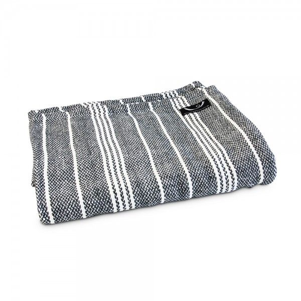 Organic Cotton Yoga Blanket with Grey Stripe