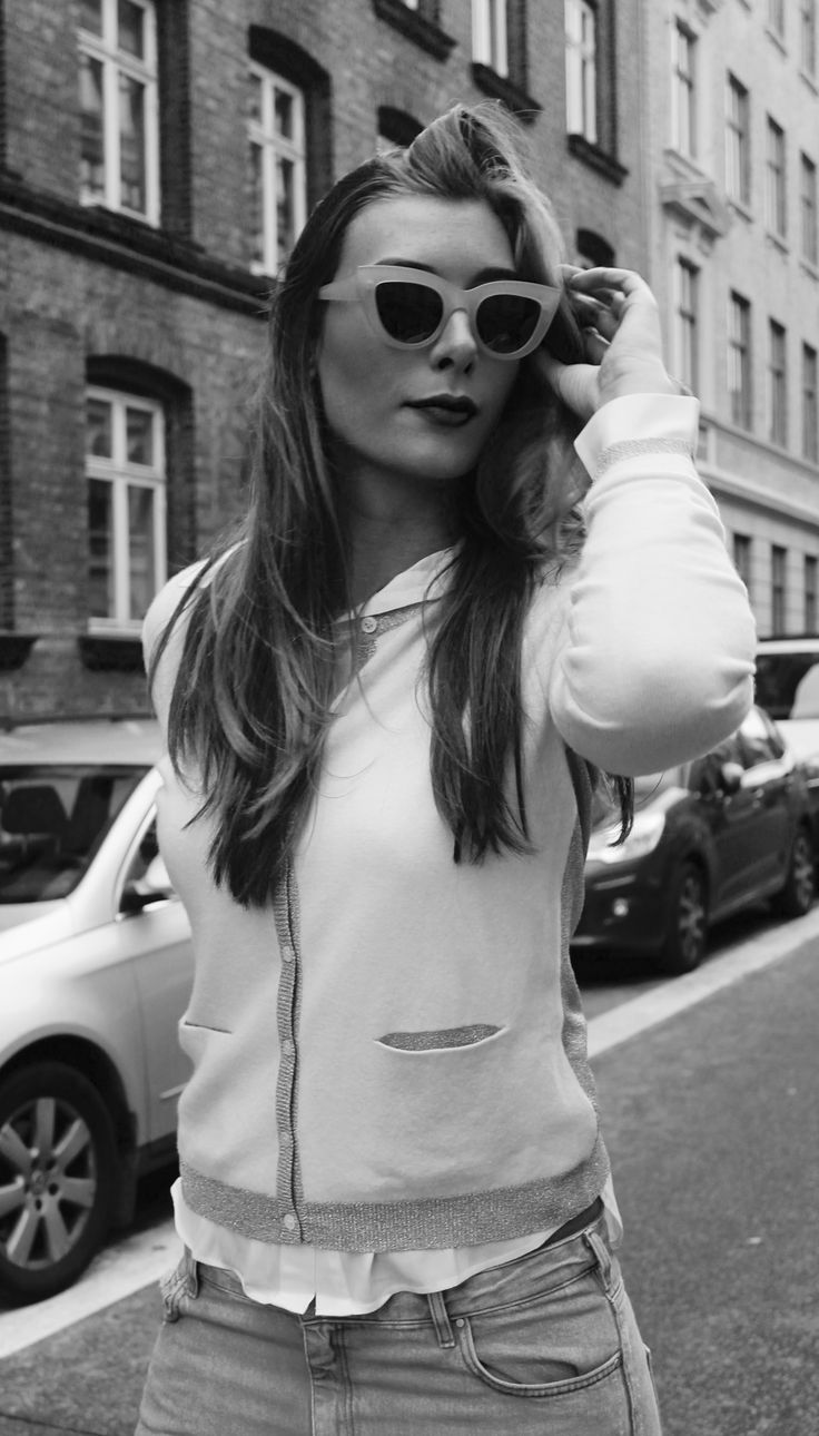Chelsea tunic in Natural White and Ilse cardigan in Natural White // Dea Kudibal // AW16 // La Femme Allure