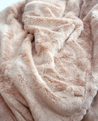 Blush Mink Faux Fur Throw from aulitfinelinens