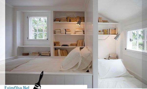 Yatak Odalarında Kitaplık Dekorasyon Modelleri