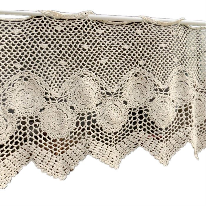 Handmade crochet meia cortina de porta cortina cortinas de janela de triagem de casamento Semi Full Lingt Shading cortina 90% de desconto(China (Mainland))