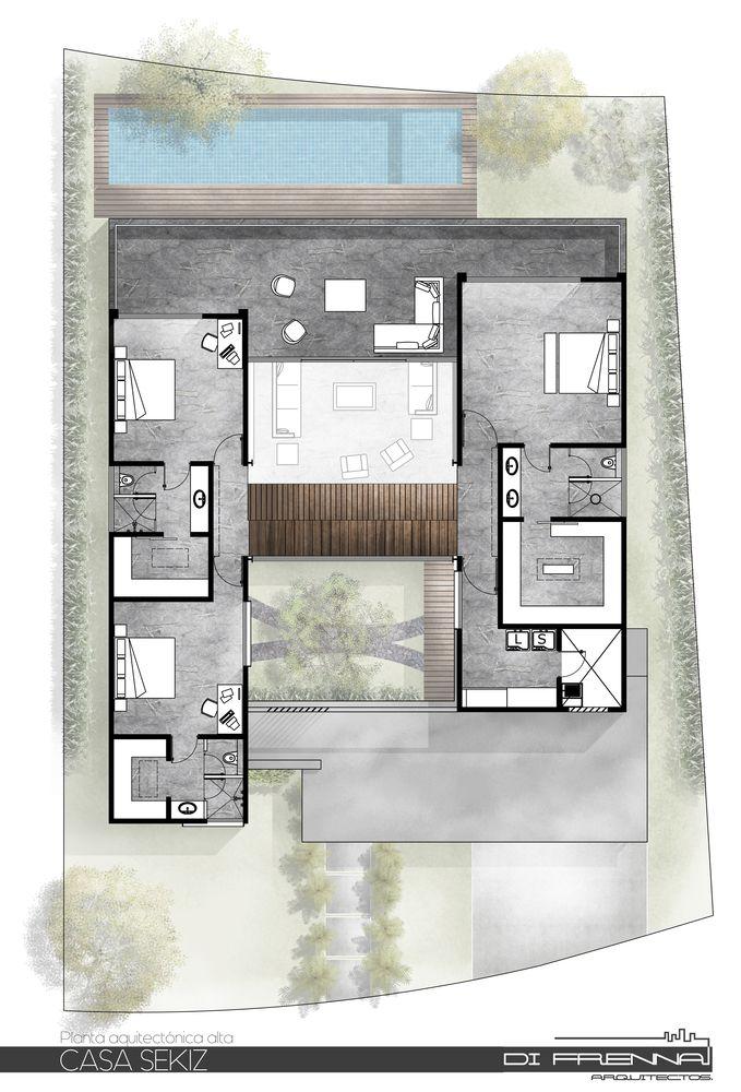 Galeria De Casa Sekiz Di Frenna Arquitectos 24 Architectural Floor Plans Architecture House House Layouts