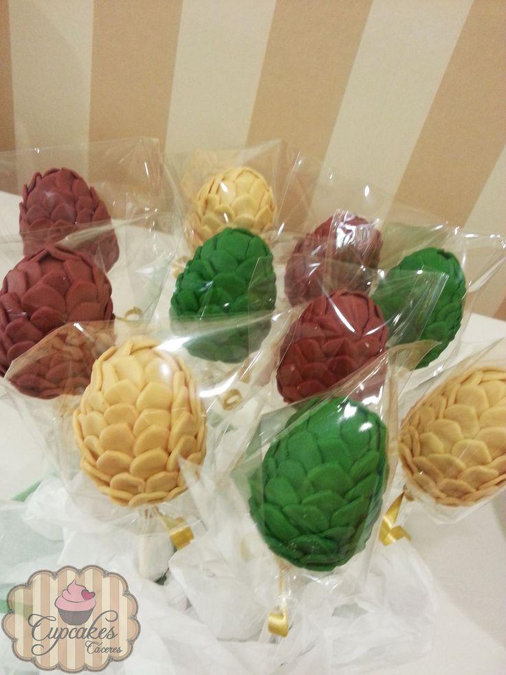 Game of thrones dragon eggs cake pops Cake pops huevos de ...