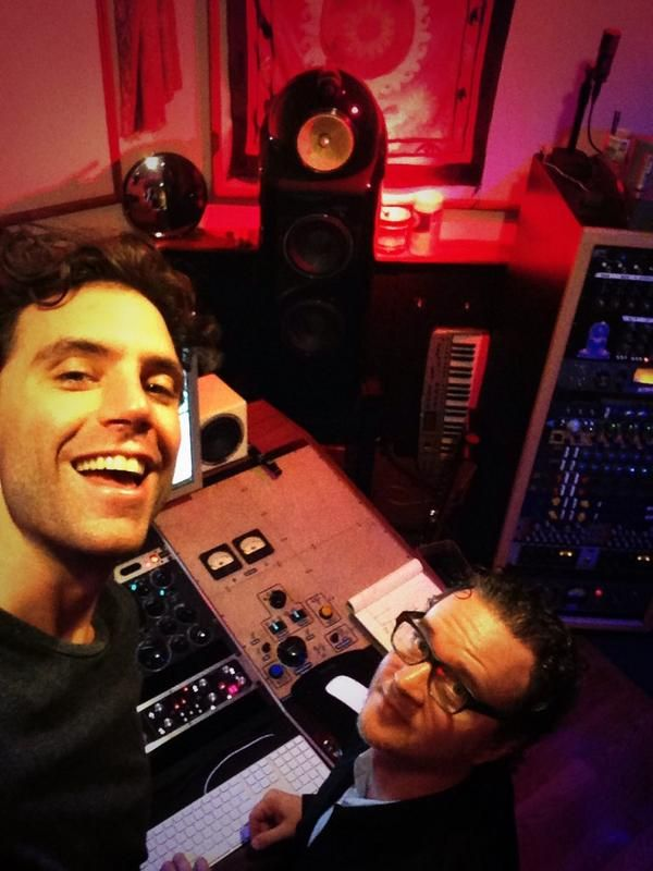 Mika in the studio in LA with Greg Wells for album #4!!!! (via Mika's twitter)