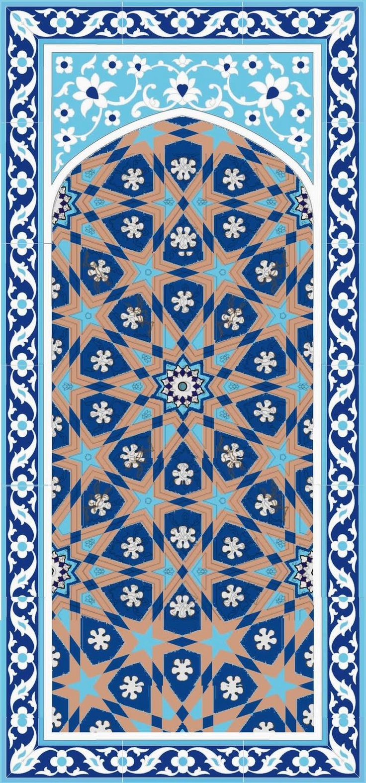 25 best ideas about islamic designs on pinterest Painting geometric patterns on walls
