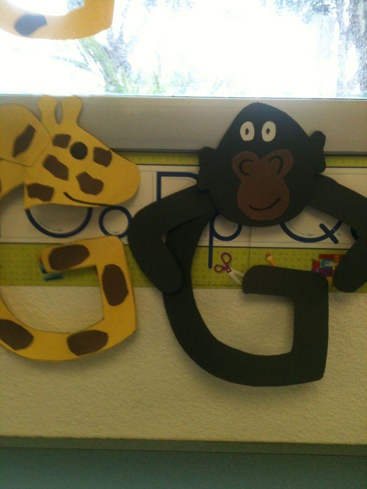 g is for gorilla letter craft | Letter G Crafts Pinterest