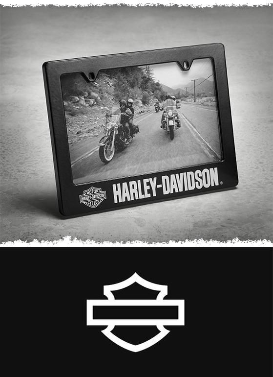 license plate 4 in photo frame at the official harley davidson online store the license plate photo frame makes a great gift for the loyal enthusiast who - Harley Davidson License Plate Frame For Motorcycle