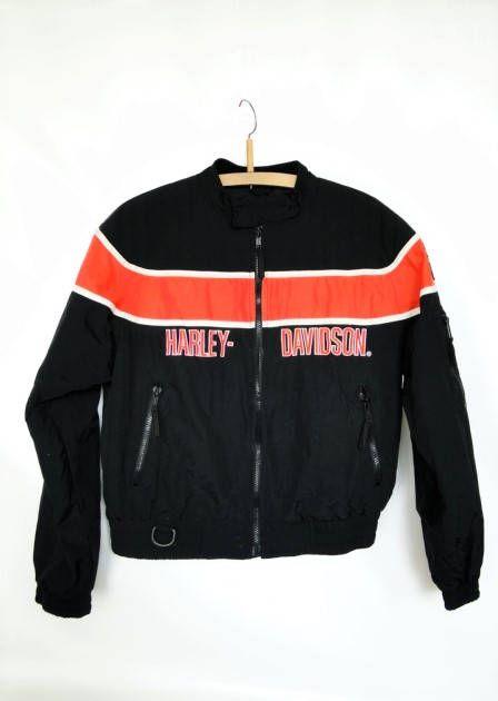 Harley Davidson Bomber Jacket/ Harley Davidson/ Jackets&coats/ Vintage clothing/ Bomber jacket/ 1980s/ Original/ Authentic/Collectible by VintBlueBird on Etsy