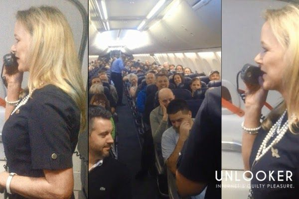 Aεροσυνοδός δίνει οδηγίες ασφάλειας και οι επιβάτες ξεσπούν σε γέλια - Ένα βίντεο με 20 εκατ. προβολές