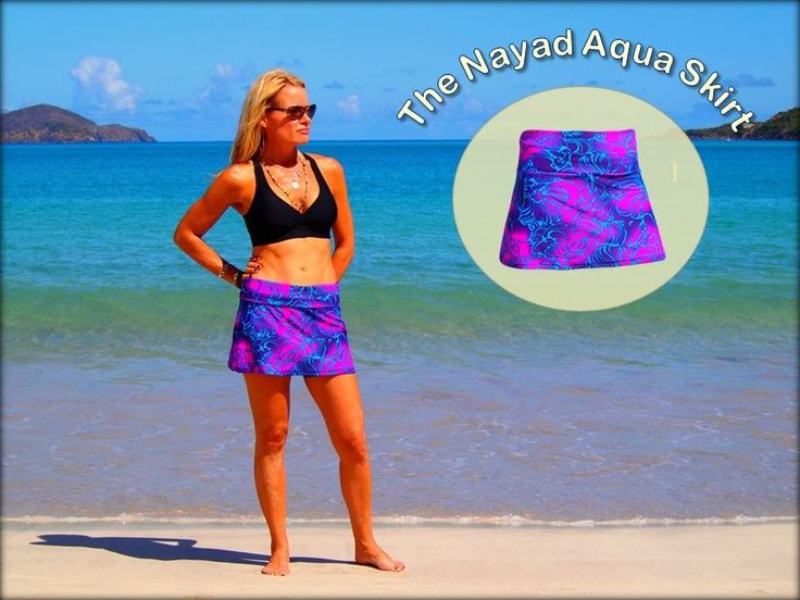 The Aqua Skirt is a simple yet indispensable garment of exceptional comfort and versatility, which can take you from the hiking trail to the beach to the snack bar to the tennis court and back to the pool. Don't go on vacation without one! http://www.nayadswimgym.com/Aqua-Skirts.html — with Samantha Sabo.