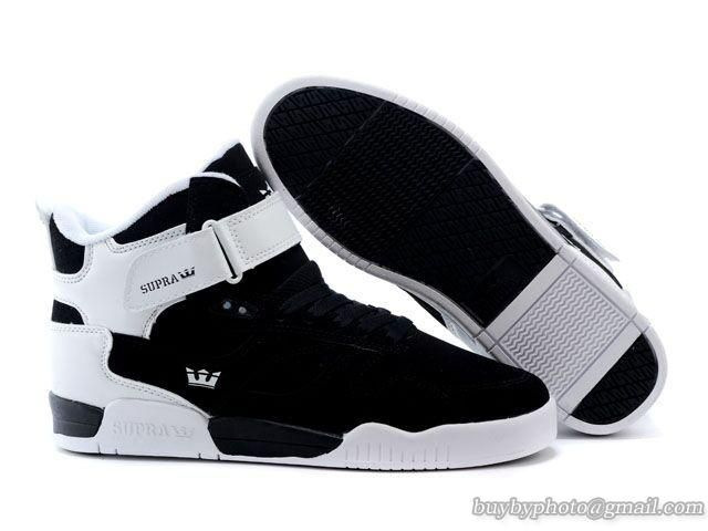 Mens Supra Bleeker High Skateboard Shoes White/Black