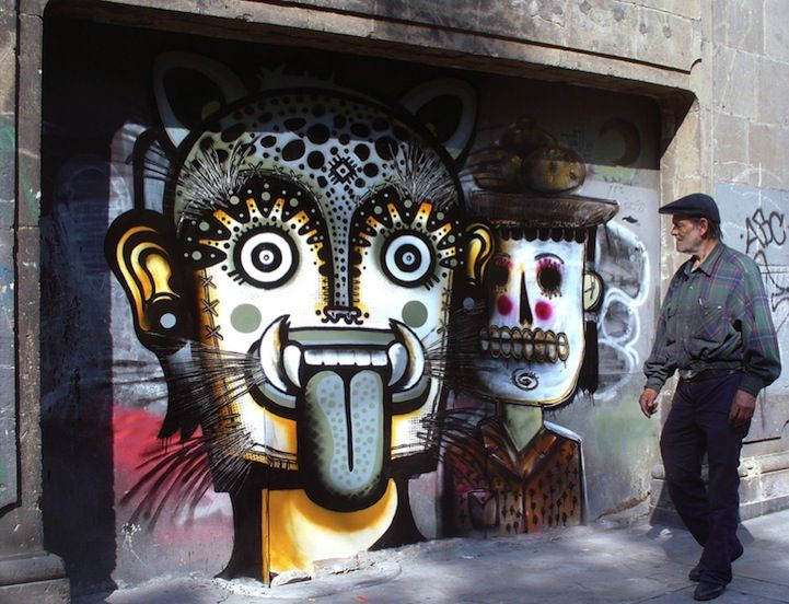 These murals are absolutely amazing. Inspired by Mexican culture such as skulls, day of the dead, Papel Picado tales and legends, street artist Neuzz aka Miguel Mejía is worth keeping an eye on.
