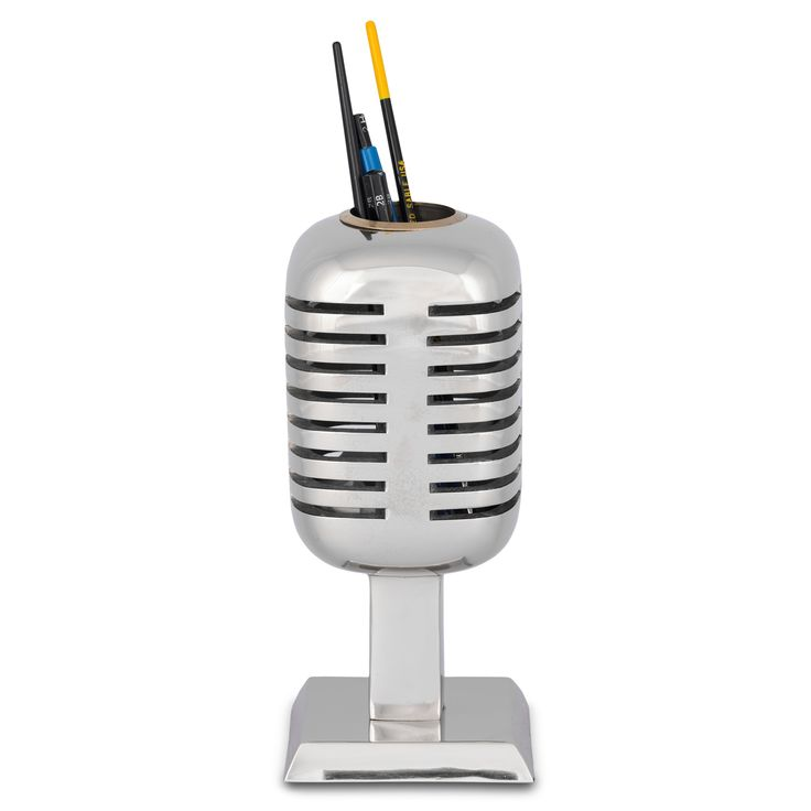 cool microphone pencil holder from MUSEUM OUTLETS