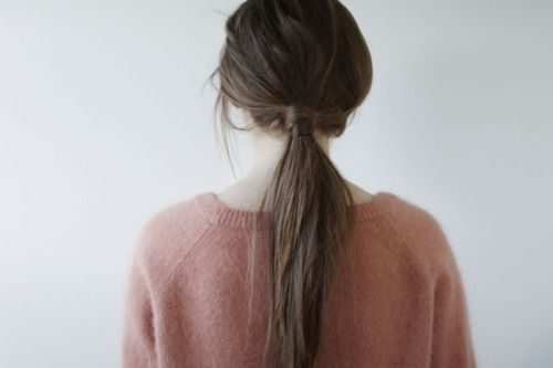 Easy way to make a ponytail unique.