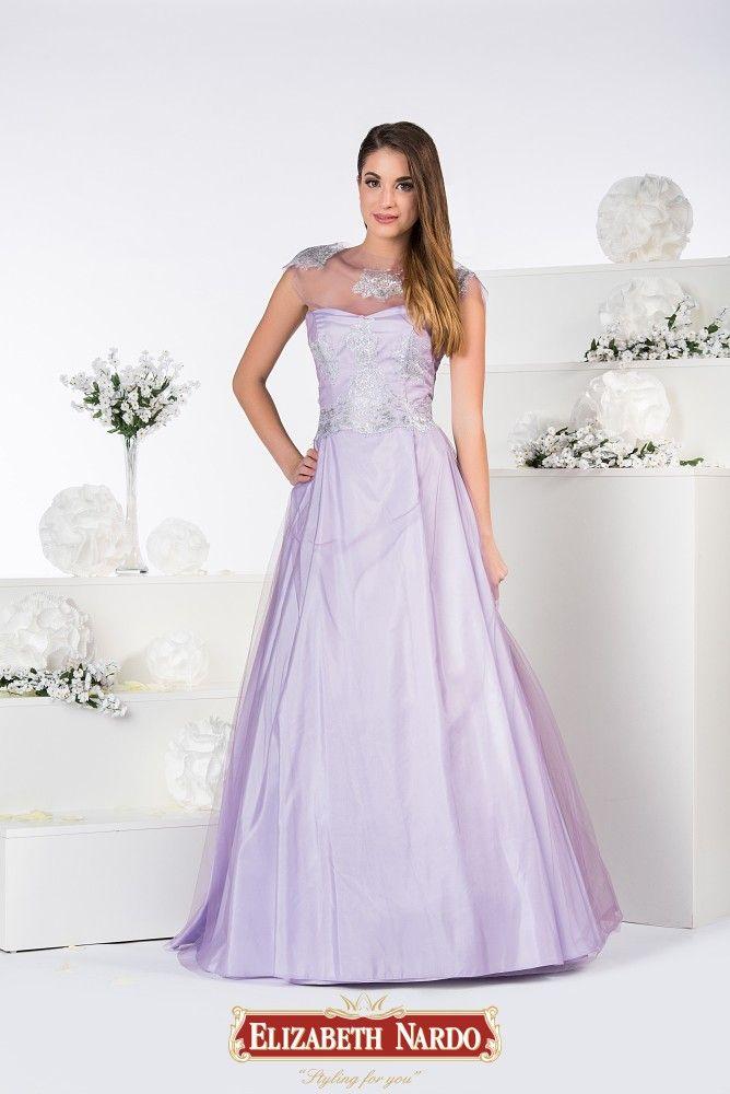19-313 Levendula színű tüll abroncsos ruha 6e2e6298a1