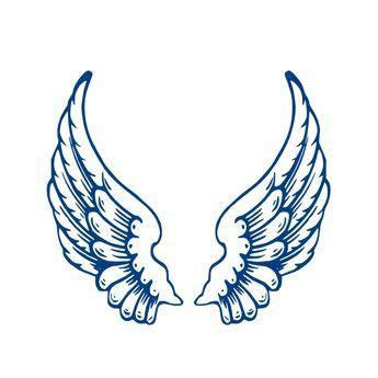 9ffb6577b angel wings template   Largeangelwings clip art - vector clip art online,  royalty free .