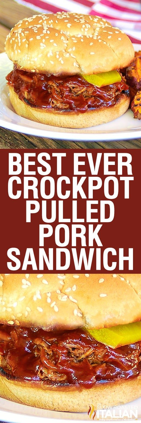 The Best Ever Simple Crockpot Pulled Pork Sandwiches are incredibly moist, tender and delicious.  A simple recipe, loaded with flavor from a homemade barbecue sauce and Dr. Pepper.  Dr. Pepper?  Yep.  You would never believe all the flavor that DP imparts into this pork.