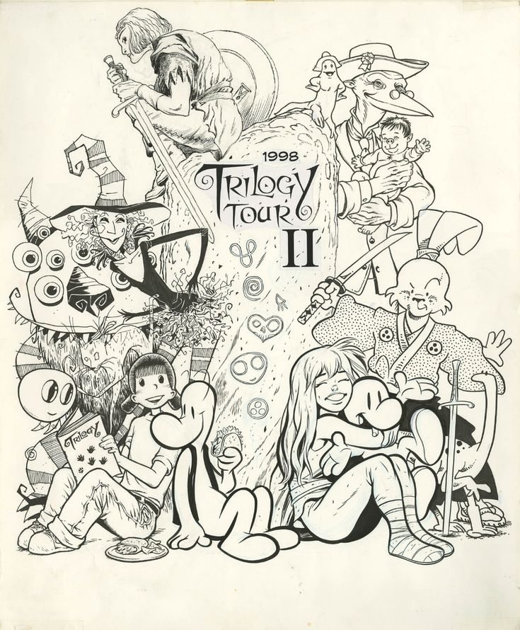 Bone Trilogy II Tour Limited Edition Cover (Jeff Smith) Comic Art