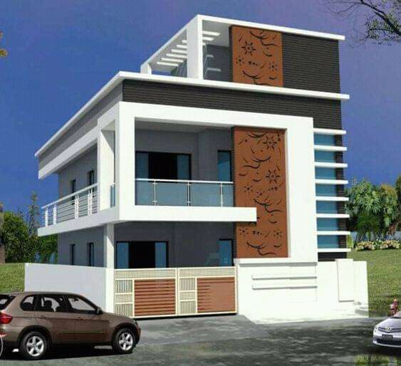 Explore The Best New Residential Interior Designs And Building Floor Plans As Per V Small House Elevation Design Small House Front Design Small House Elevation