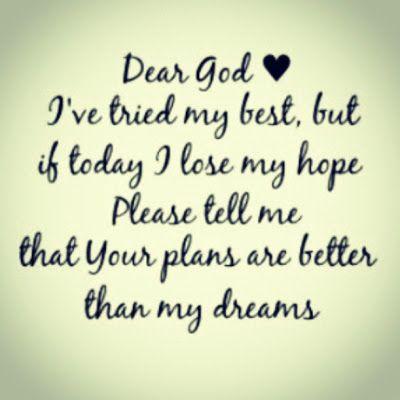 Dear God #quote - BrassyApple.com