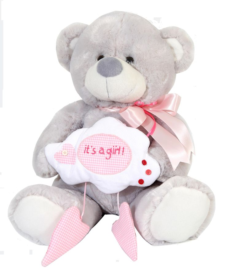 Makes a great gift for a birthday, a cute keepsake to welcome a new baby, or an adorable surprise to make anyone smile. #NewBaby #TeddyBear