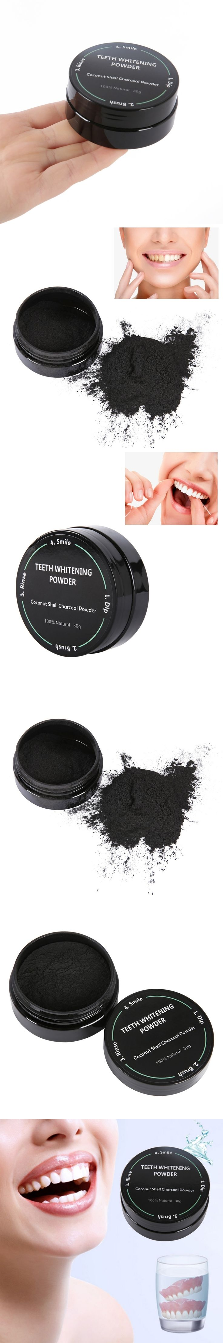 2017 Coconut Shells Activated Carbon Teeth Whitening Organic Natural Bamboo Charcoal Toothpaste Powder Wash Your Teeth White PL2
